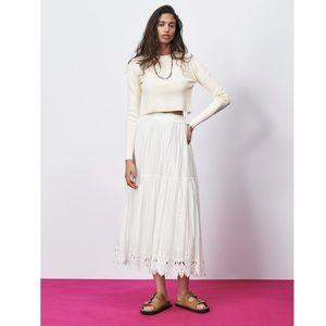 Crochet Trim Skirt Size S NWT